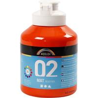 A-Color, Readymix, akryylimaali, 02, matta (kylttimaali), oranssi, 500ml
