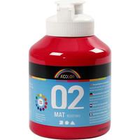 A-Color, Readymix, akryylimaali, 02, matta (kylttimaali), punainen, 500ml