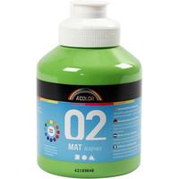 A-Color, Readymix, akryylimaali, 02, matta (kylttimaali), vaaleanvihreä, 500ml