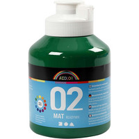 A-Color, Readymix, akryylimaali, 02, matta (kylttimaali), vihreä 500ml