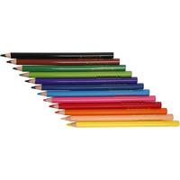 Colortime-värikynät, 5 mm, värilajitelma, Jumbo, 12kpl