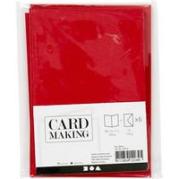 Korttipohjat ja kirjekuoret, Punainen