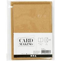 Korttipohjat ja kirjekuoret, Luonnonruskea