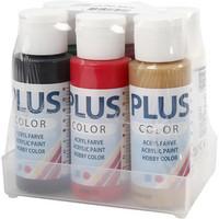 Plus Color, joulunvärit, 6x60ml