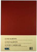 Luxury A4 Kartonki, Viininpunainen, 5kpl