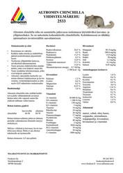 Altromin 2533 chinchillapelletti