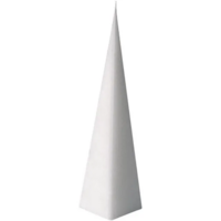 Kynttilämuotti, pyramidi, koko 228x60 mm
