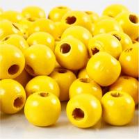 Puuhelmet, keltainen, 20g/pkk