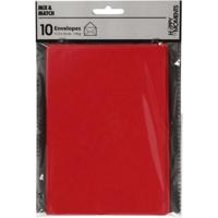 Kirjekuori, 110g, punainen, 10kpl/pkk