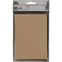 Korttipohja, 220g, luonnonruskea, 10kpl/pkk