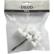 Muovitähdet, valkoinen, 12kpl/pkk