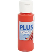 Plus Color- askartelumaali, 60ml, briljantin punainen