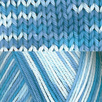 Pirkka-Cottonyarn blue-white