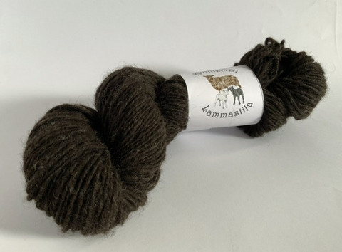 Loosely threaded woolyarn Natural black