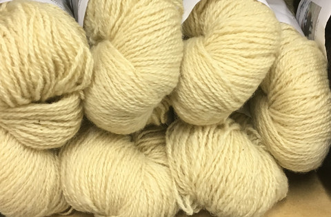 2-ply Finnsheep woolen yarn White 100g