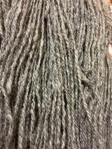 2-ply Finnsheep woolen yarn Grey