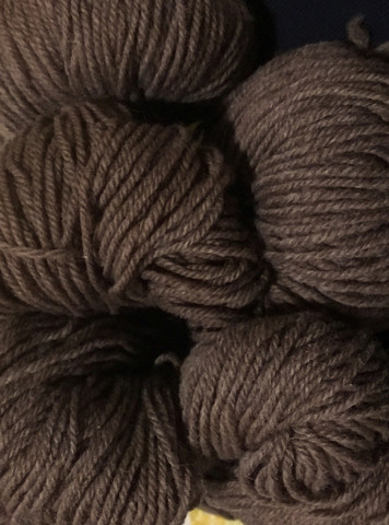 Finnsheep Aran Woolen yarn Brown