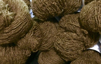 1-ply Finnsheep woolen yarn Brown
