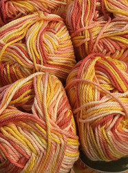 Pirkka Cottonyarn Variegated Yellow-Orange