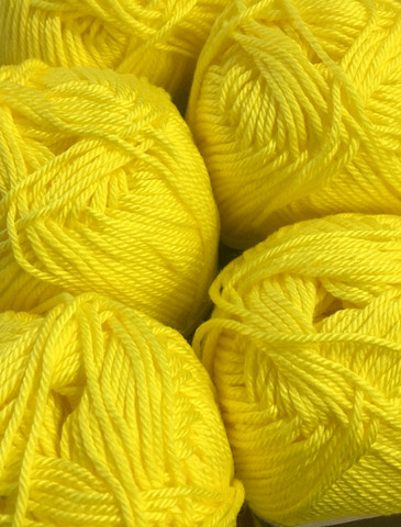Pirkka Cottonyarn Bright Yellow