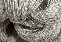 Paper yarn with blingbling Silver