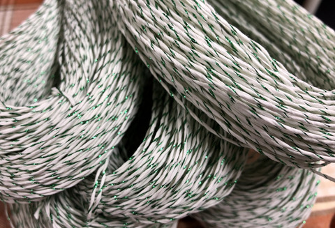 Paper yarn with blingbling Green