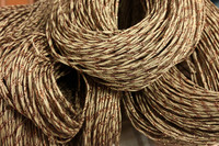 Paper yarn brown with blingbling Copper