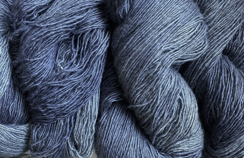 1-ply Finnsheep woolen yarn Thunder