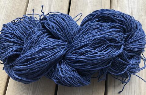 Veera-pellavalanka Tumman sininen 100g