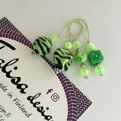Silmukkamerkkisetti vihreä