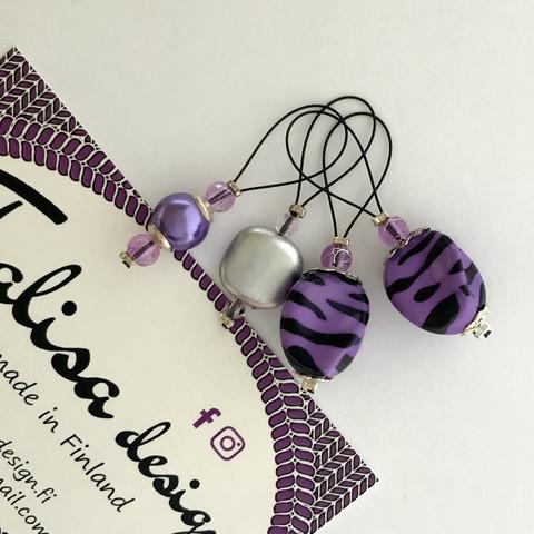 Silmukkamerkkisetti violetti