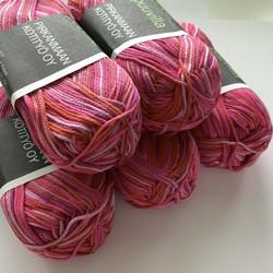 Pirkka Cottonyarn Variegated Pink