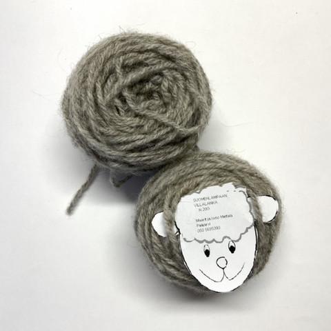 3-säikeinen karstalanka vaalea harmaa 20g
