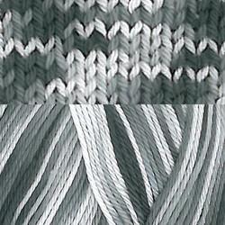 Pirkka Cottonyarn Variegated Black-White