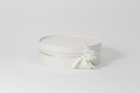 Graduation cap box without lyre, White