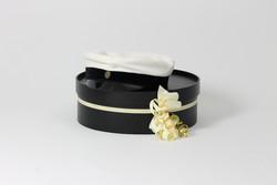 Graduation cap box without lyre, Black