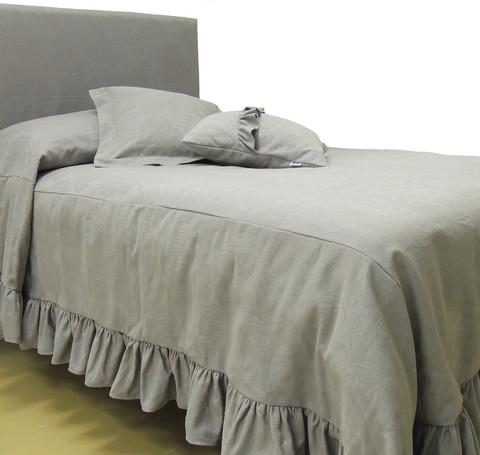 Sängynpäätyhuppu - Jacquard harmaa