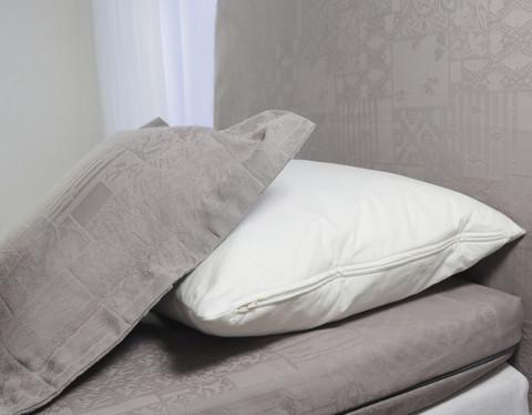 Sängynpäätyhuppu - Jacquard harmaa 3.