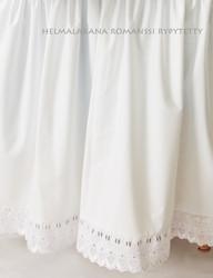 Helmalakana/rypytetty Romanssi valkoinen