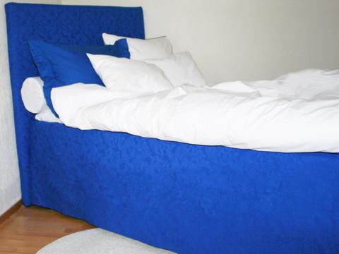Helmalakana/suora jacquard sininen