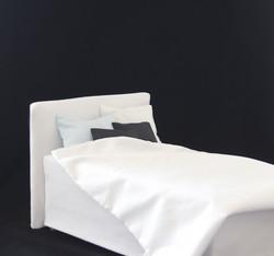 Sängynpäätyhuppu - Napakka valkoinen