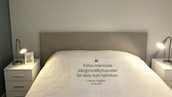 Sängynpäätyhuppu - Napakka harmaa
