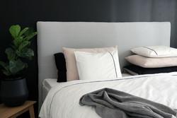 Sängynpäätyhuppu - Napakka alumiini