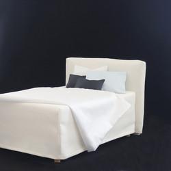 Sängynpäätyhuppu - Napakka luonnonvalkoinen