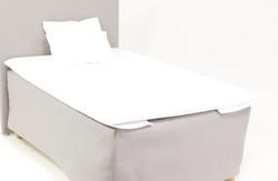 Pikapetauslakanat pellava valkoinen/rajaton kokovalikoima