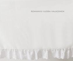 Helmalakana/suora Romanssi valkoinen