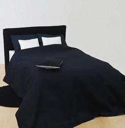 Aluslakana satiini musta 150 x 260 cm