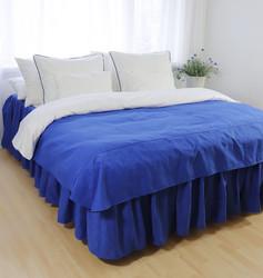 Helmalakana/rypytetty jacquard sininen
