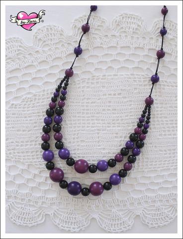 Tuplapuuhelmet, violetti/luumu/musta
