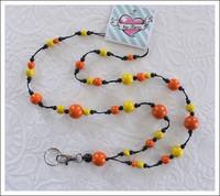 Avainkaulanauha, keltainen/oranssi/musta